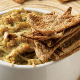 Warm and Healthy Artichoke and White Bean Dip