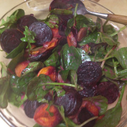 Warm Beet And Sweet Potato Salad with Creamy Lemon Thyme Dr