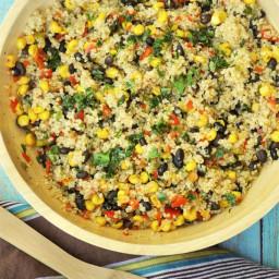 Warm Black Bean and Corn Quinoa Salad
