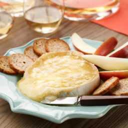 Warm Brie with Fuji Apple, Pear and Melba Toasts