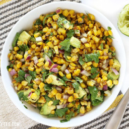 Warm Corn and Avocado Salad
