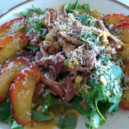 Warm Duck Salad with Caramelized Apples