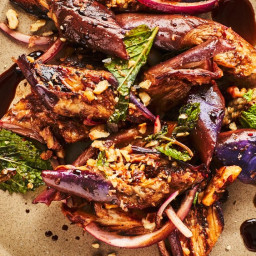 Warm Eggplant Salad with Walnuts