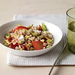 Warm Farro Salad with Braised Radishes
