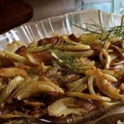 Warm Fennel and Onion Slaw