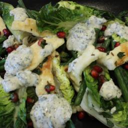 Warm Halloumi and Mint Salad