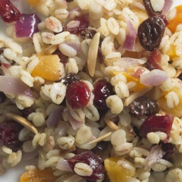 Warm Jeweled Barley Salad with Honey-Mustard Dressing