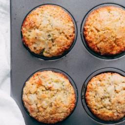 Warm Lemon Zucchini Muffins