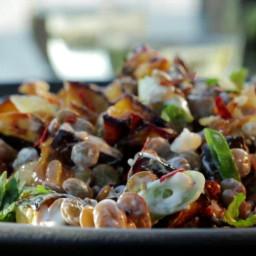 Warm Lentil and Acorn Squash Salad with Yogurt Vinaigrette
