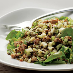 Warm Lentil Salad with Sausage and Apple