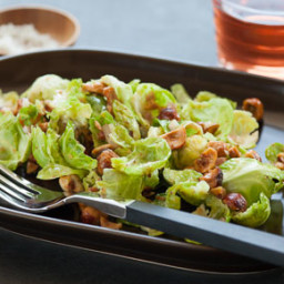 Warm Mustardy Brussels Sprout Salad