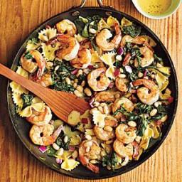 Warm Pasta Salad with Shrimp