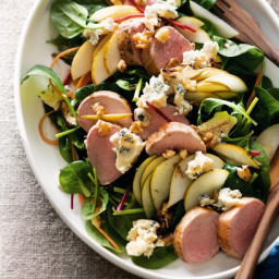 Warm pork and pear salad