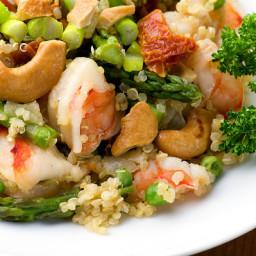 Warm Quinoa Salad with Shrimp and Asparagus