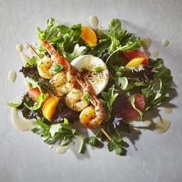 Warm Shrimp Salad with Maple-Grapefruit Vinaigrette