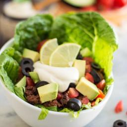 Warm Taco Style Salad