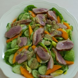 Warm Thai Duck Salad with Mango And Cucumber
