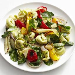 Warm Tortellini and Roasted Vegetable Salad