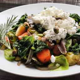 Warm Winter Vegetable Salad With Ricotta and Herbs Recipe