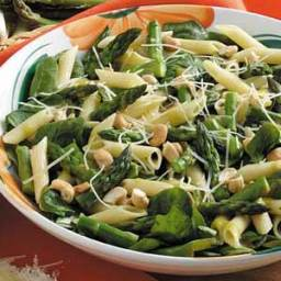 Warm Asparagus Spinach Salad Recipe