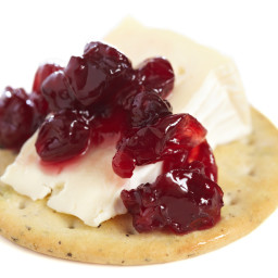 Warmed Cranberry Brie