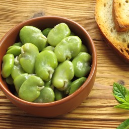 Warm Garlicky Fava Beans