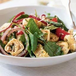 Warm Tortellini and Cherry Tomato Salad
