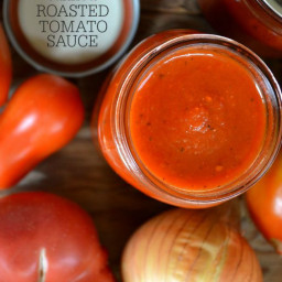 Water-Bath Safe Canned Roasted Tomato Sauce