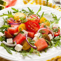 Watermelon and Red Onion Salad