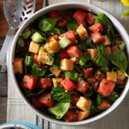 Watermelon and Spinach Salad Recipe