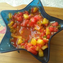 Watermelon Cilantro Salsa Tropical