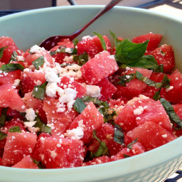 Watermelon, Feta and Basil Salad