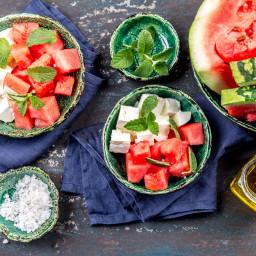 Watermelon Jicama Feta Salad