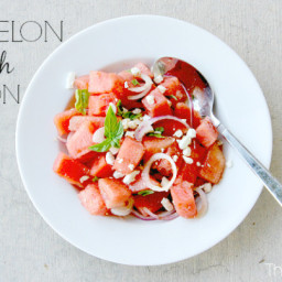 Watermelon Salad with Red Onion and Feta