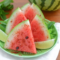 Watermelon with Chile, Salt and Lime
