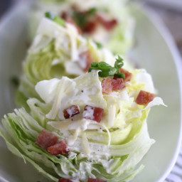 Wedge Salad with Fresh Green Onion Dressing
