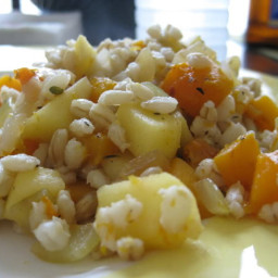 Weight Watchers Barley With Butternut Squash, Apples and Onions