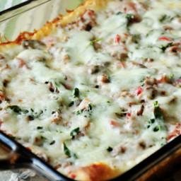 Weight Watcher's Deep-Dish Pizza Casserole