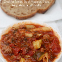 Weight Watchers Recipe of the Day: Crock Pot Tomato Beef Macaroni Soup - 5