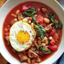 WeightWatchers White Bean and Veggie Bowls with Frizzled Eggs Recipe