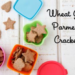 Wheat Germ Parmesan Crackers