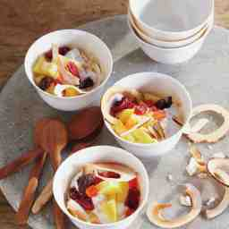 Whipped Yogurt with Pineapple and Dried Fruit