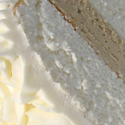 White Almond Wedding Cake