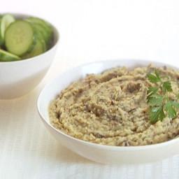 White Bean and Roasted Eggplant Hummus