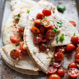 White Bean and Tuna Quesadillas with Cherry Tomato Pico