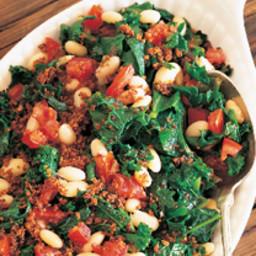 White Bean, Greens and Tomato Gratin