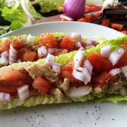 White Bean salad wraps
