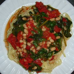 White Bean, Spinach & Tomato Linguine