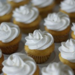 White bean vanilla cupcakes with coconut cream frosting