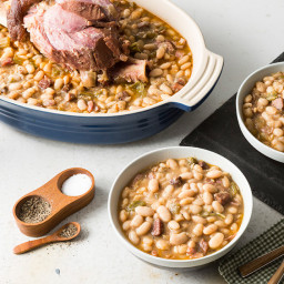 White Beans with Tasso and Ham